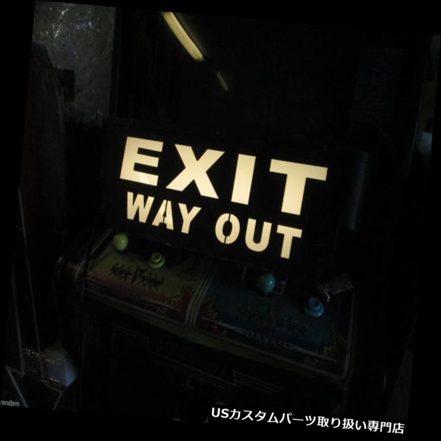 GTウィング メタルディスプレイ出口ウェイライトウォールアートディスプレイプラークルームフィルムホームシアター METAL DISPLAY EXIT WAY OUT Lighted Wall Art DispalyPlaque Room Film home theatre