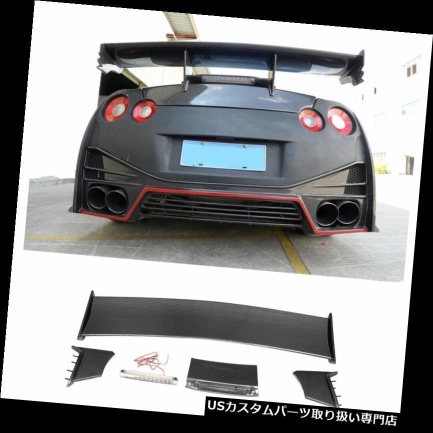 GTウィング 日産NISMO GTR R35 GT-R 09-17用カーボンファイバーカーリアトランクスポイラーウイングフィット Carbon Fiber Car Rear Trunk Spoiler Wing Fit for Nissan NISMO GTR R35 GT-R 09-17