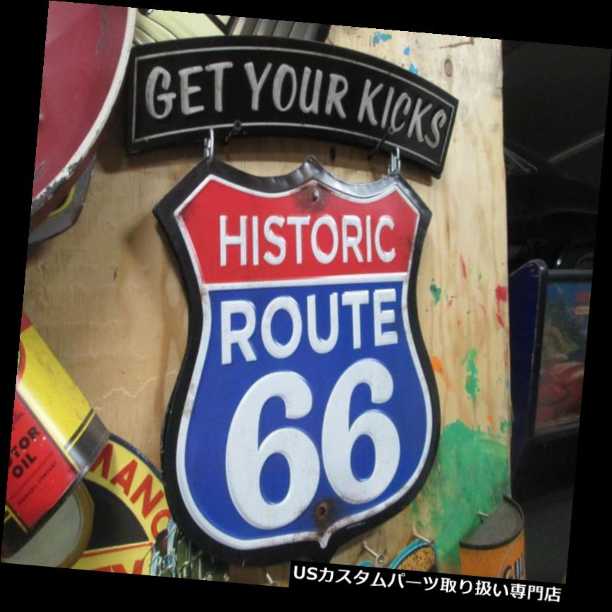 GTウィング ルート66の新しい掛かる表示こんにちは方法母の道の赤白および青 ROUTE 66 New Hanging display hi way mother Road Red White and Blue