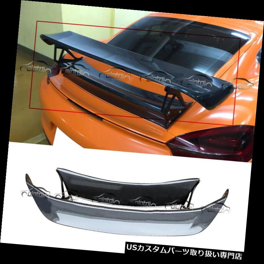 GTウィング ポルシェボクスター981 TechArtカーボンファイバーGTリアスポイラーウィング2013-2014用 Fits for Porsche Boxster 981 TechArt Carbon Fibre GT Rear Spoiler Wing 2013-2014