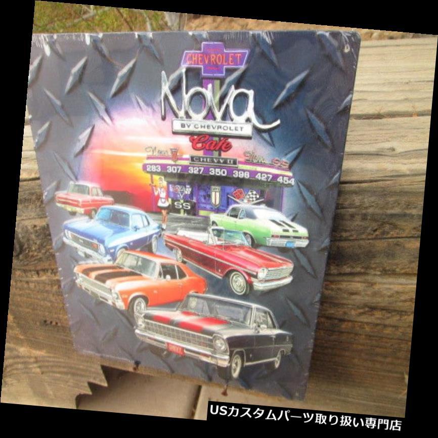 GTウィング CHEVY NOVAシボレーモンスターモーターメタルヴィンテージスタイルディスプレイシボレーマン洞窟 CHEVY NOVA CHEVROLET Monster Motor Metal Vintage Style Display Chevy Man Cave
