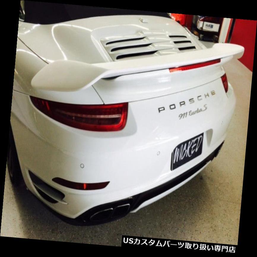 GTウィング 2014 - 2015年用ポルシェ991ターボS GT2スタイルバイウィングスポイラー タクシー Porsche 991 Turbo S GT2 style Bi-Wing Spoiler for 2014-2015 Turbo Coupe & Cab