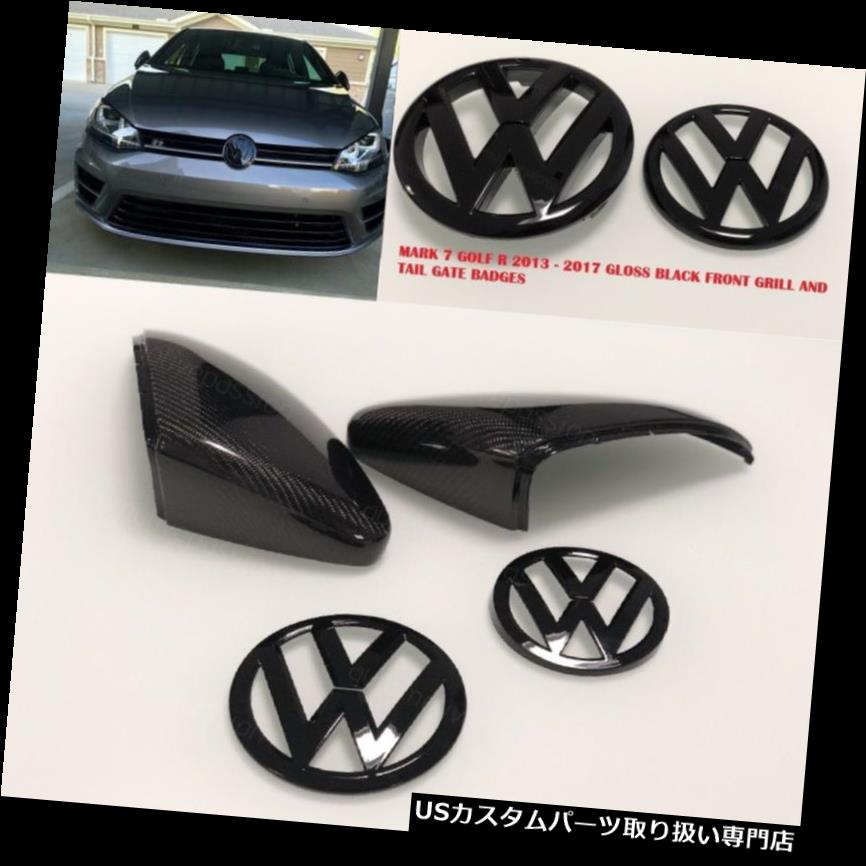 GTウィング VWゴルフマーク7カーボンウィングミラーカバー& A BADGE SET GTI R GT TDI 2013オンワード VW GOLF MARK7 CARBON WING MIRROR COVERS & BADGE SET GTI R GT TDI 2013 ONWARDS