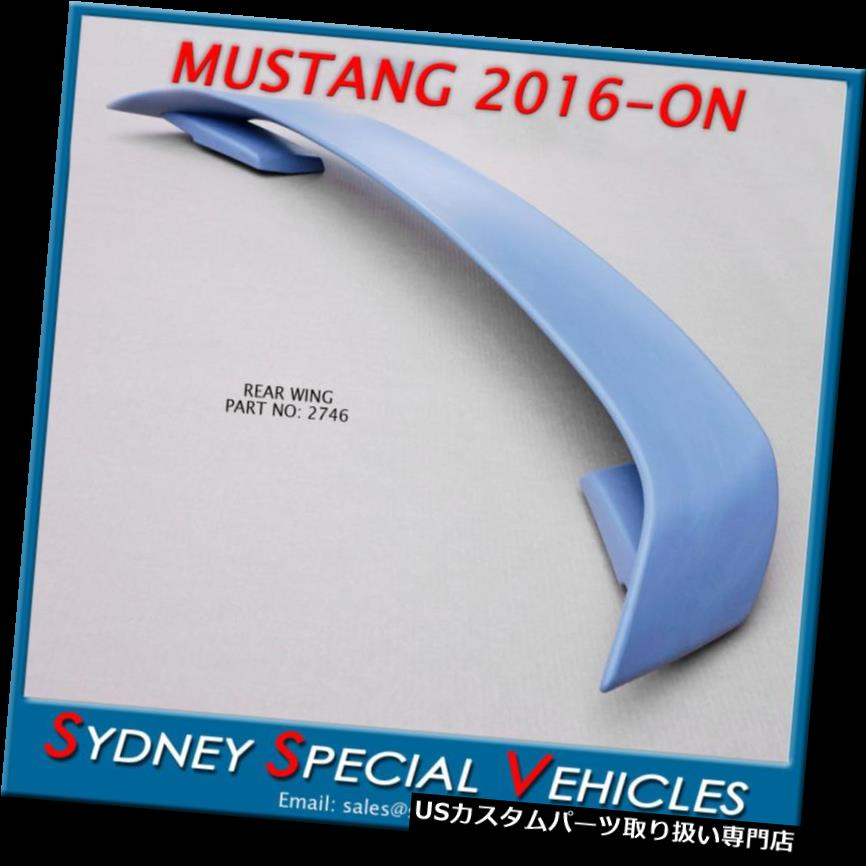 GTウィング フォードマスタングカップ2016年から2017年GT350スタイルABSスポイラーの後部翼 REAR WING FOR FORD MUSTANG COUPE 2016 to 2017 GT350 STYLE ABS SPOILER