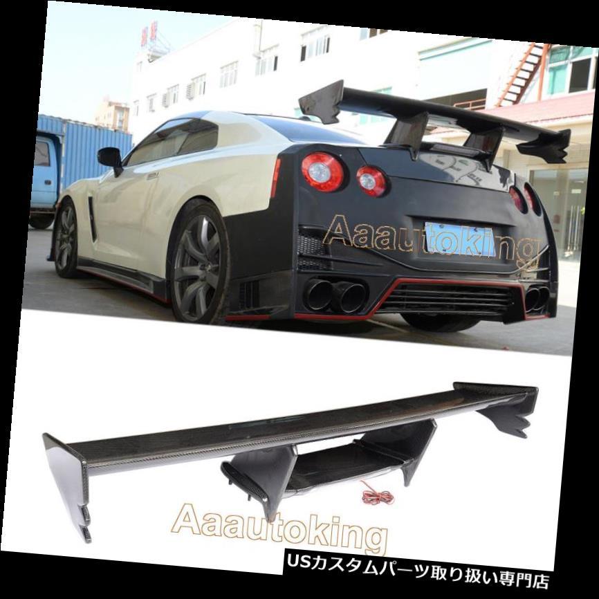 GTウィング 日産NISMO GTR R35 GT-R 09-15カーボンファイバー用リアトランクスポイラーウイングリフィット Rear Trunk Spoiler Wing Refit For Nissan NISMO GTR R35 GT-R 09-15 Carbon Fiber