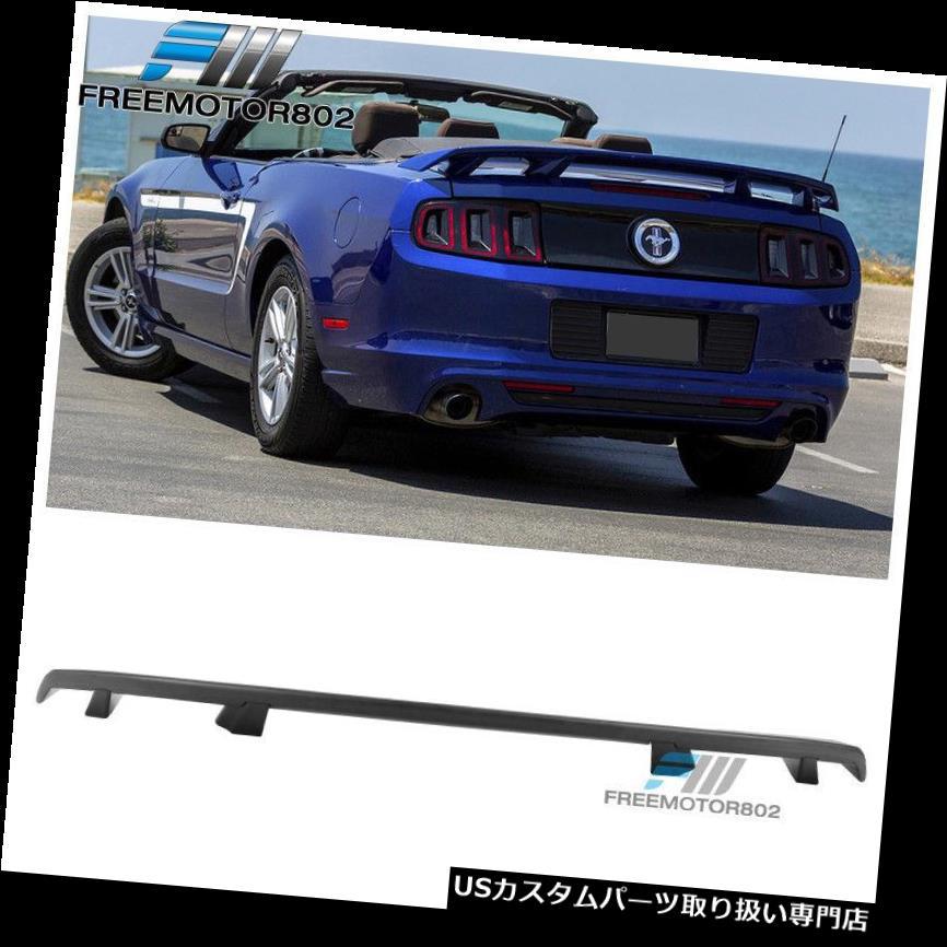GTウィング 10-14フォードマスタングLSスタイルトランクスポイラーマットブラックMBA - ABSにフィット Fits 10-14 Ford Mustang LS Style Trunk Spoiler Matte Black MBA - ABS