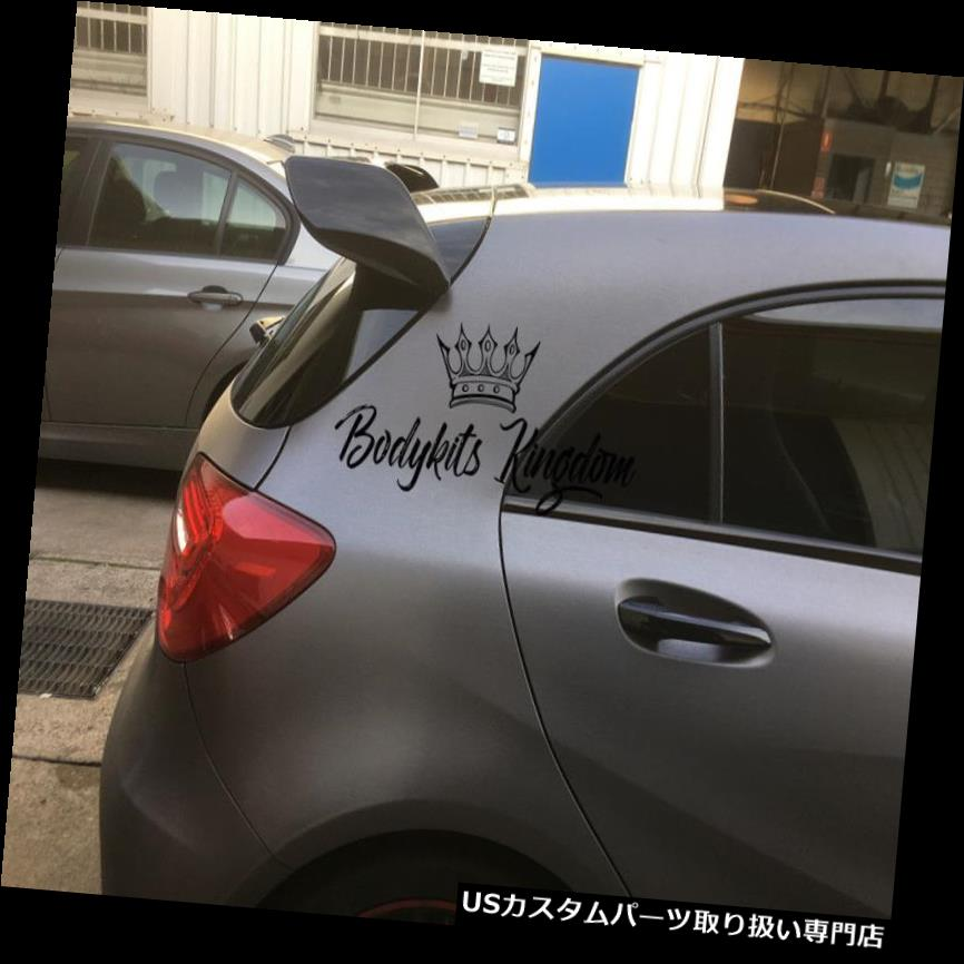 GTウィング w176クラスa45 a250 a200 amgスポイラー黒のプラスチック製の翼gt revozリップバーキット w176 a class a45 a250 a200 amg spoiler black plastic wing gt revoz lip bar kit