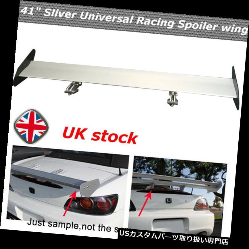 GTウィング 普遍的なクロム軽量アルミニウム後部車のトランクGTの翼の競争のスポイラーイギリス Universal Chrome Lightweight Aluminum Rear car trunk GT Wing Racing Spoiler UK