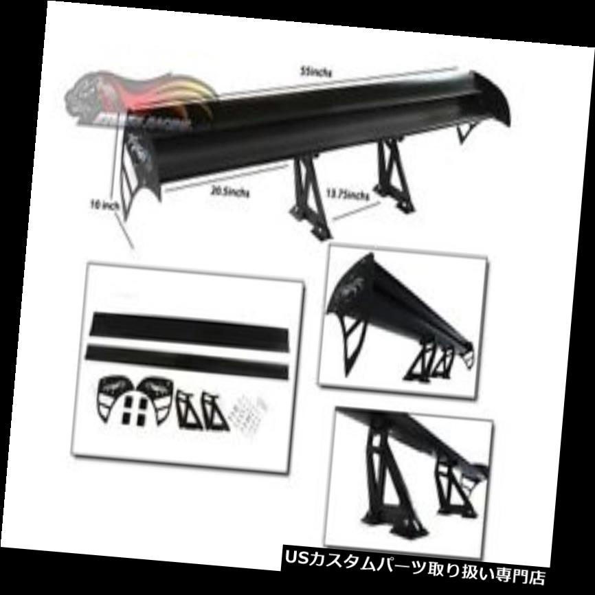 GTウィング GTウイングタイプSレーシングリアスポイラーブラックプリマスフューリーI II III用すべてのモデル GT Wing Type S Racing Rear Spoiler BLACK For Plymouth Fury I II III All Models