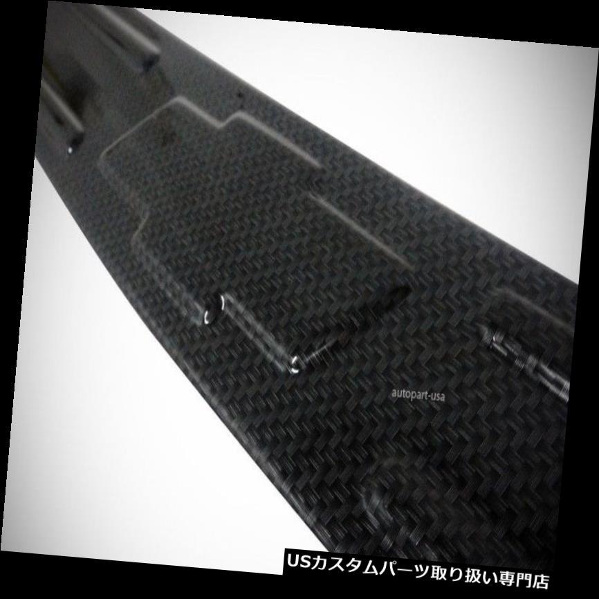 リアステップバンパー シボレーソニック4DR 2013-2014用のフィットカーボンルックステッププレートリアバンパーカバー FIT FOR CHEVROLET SONIC 4DR 2013-2014 CARBON LOOK STEP PLATE REAR BUMPER COVER