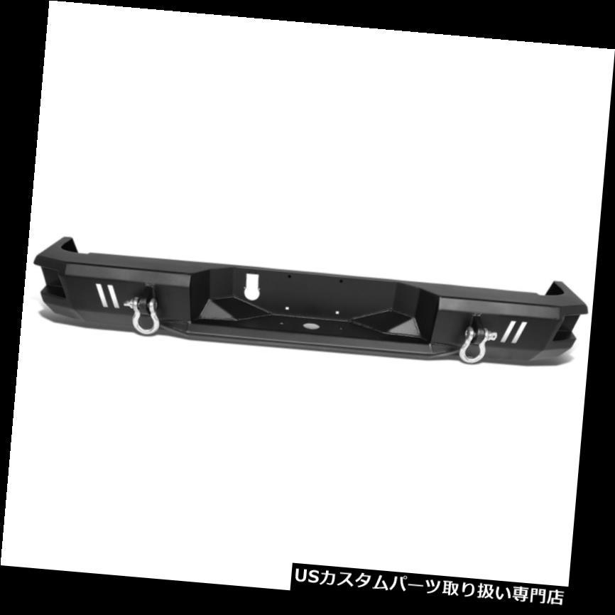 リアステップバンパー フィット09-18 RAMトラックブラックリアヘビーデューティスチールステップバンパーフェイスバーw / Dリング Fit 09-18 RAM Truck Black Rear Heavy Duty Steel Step Bumper Face Bar w/D-Rings