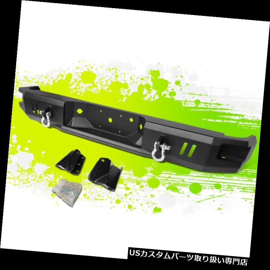 リアステップバンパー ブラックヘビーデューティースチールデュアルD-リングリアコーナーステップバンパー09-14 FORD F150用 BLACK HEAVY DUTY STEEL DUAL D-RINGS REAR CORNER STEP BUMPER FOR 09-14 FORD F150