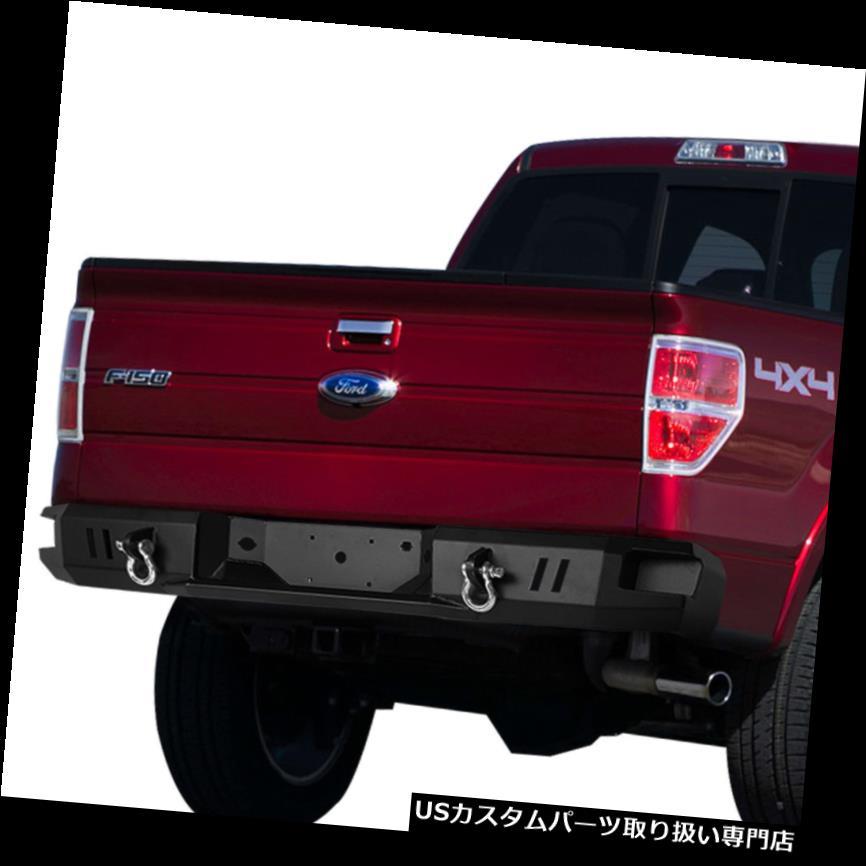 リアステップバンパー 09-14フォードF150ブラックヘビーデューティオフロードリアステップバンパーW /デュアルDリング For 09-14 Ford F150 Black Heavy Duty Off-Road Rear Step Bumper w/Dual D-Rings