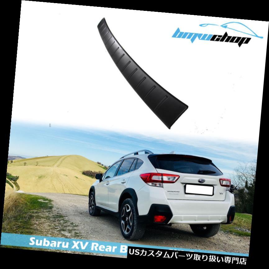 リアステップバンパー 12-19スバルXV Crosstrek用リアバンパーシルシルカバーステッププレートトリムガード Rear Bumper Sill Cover Step Plate Trim Guard for 12-19 Subaru XV Crosstrek
