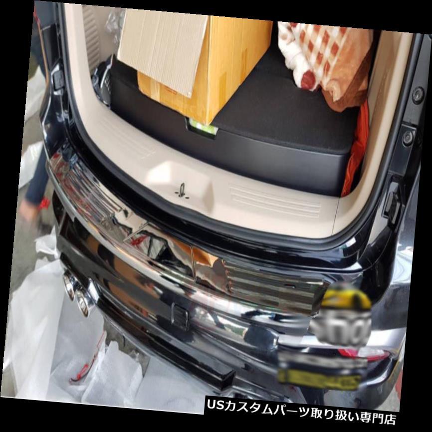 リアステップバンパー いすゞMUX Mu-X 2017-2018クロームリアバンパーステッププロテクターガードプレート用フィット Fit For Isuzu MUX Mu-X 2017-2018 Chrome Rear bumper Step Protector Guard Plate