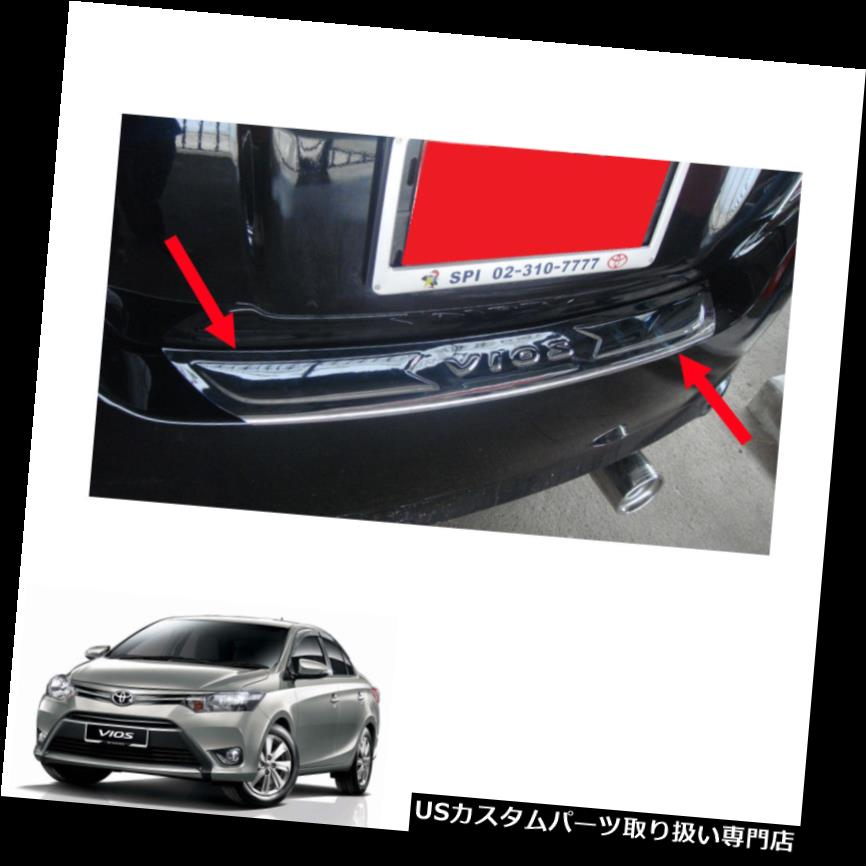 リアステップバンパー Toyota Vios Belta Yaris Sedan 13 14 15 17リアシルバンパーステップカバークローム For Toyota Vios Belta Yaris Sedan 13 14 15 17 Rear Sill Bumper Step Cover Chrome