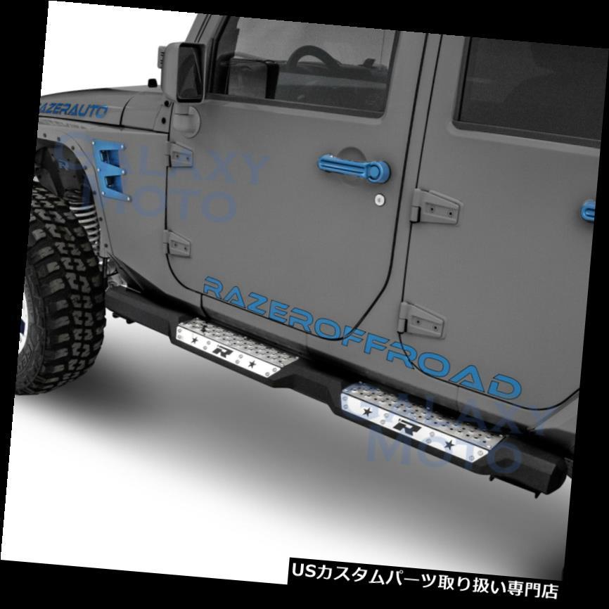 リアステップバンパー HD Falcon 4ドアサイドステップアーマースライダーランニングボード用07-18ジープJKラングラー HD Falcon 4 Door Side Step Armor Slider Running Board for 07-18 JEEP JK Wrangler
