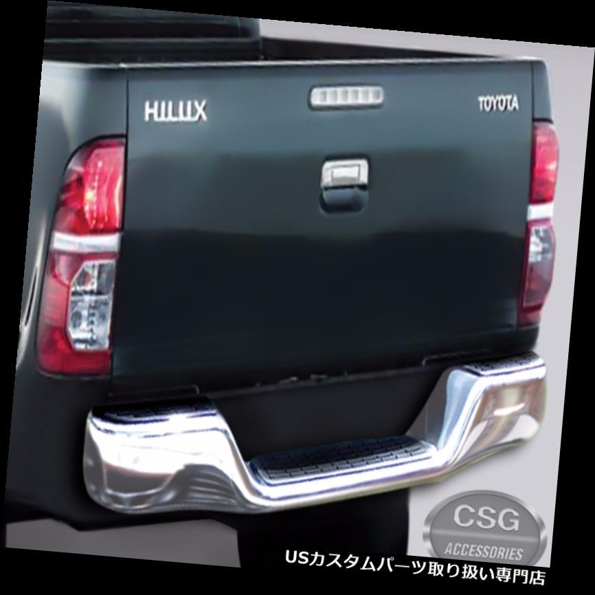 リアステップバンパー Toyota HILUX Vigo(04-14)クロームリアバンパーナッジステップバー(ブラケット付き) Toyota HILUX Vigo (04-14) Chrome Rear Bumper Nudge Step Bar w/ brackets