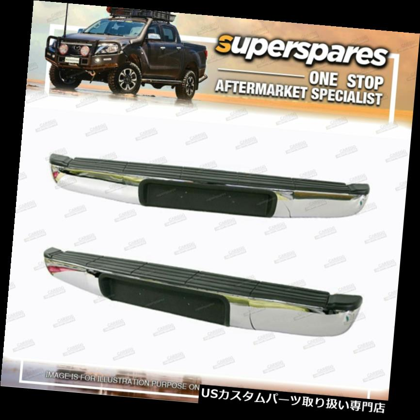 リアステップバンパー マツダBT 50 UN用ラバーとブラケット用リアステップバー11 / 2006-09 / 201  1 Rear Step Bar for Mazda Bt 50 UN With Rubber And Bracket 11/2006-09/2011