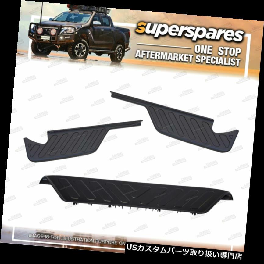 リアステップバンパー 日産ナバラD40タイ建造用リアステップバープラスチックパッドセット Rear Step Bar Plastic Pads Set for Nissan Navara D40 Thai Built