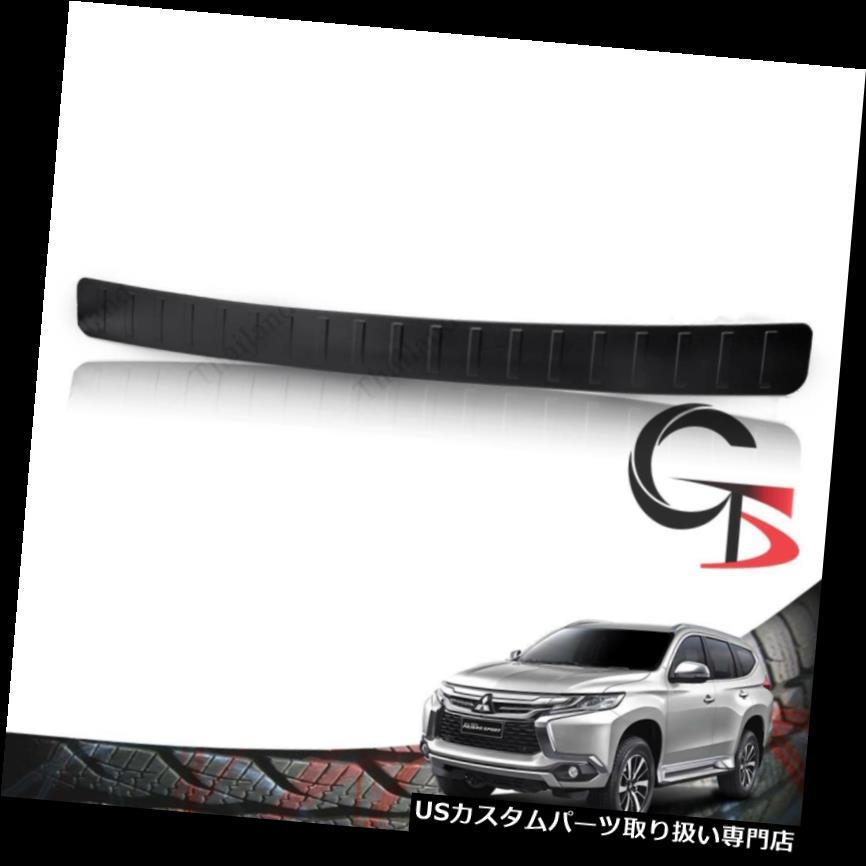 リアステップバンパー 三菱パジェロモンテロスポーツ16 - 18用リアバンパーステップカバーマットブラック Rear Bumper Step Cover Matte Black For Mitsubishi Pajero Montero Sport 16 - 18