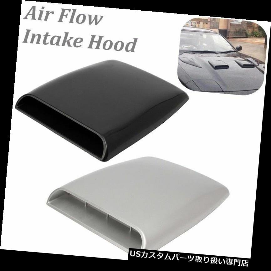 ボンネットフードベントスクープカバー 車の普遍的なABS装飾的な気流の取り入れ口のスクープターボボンネットの出口カバーフード Car Universal ABS Decorative Air Flow Intake Scoop Turbo Bonnet Vent Cover Hood