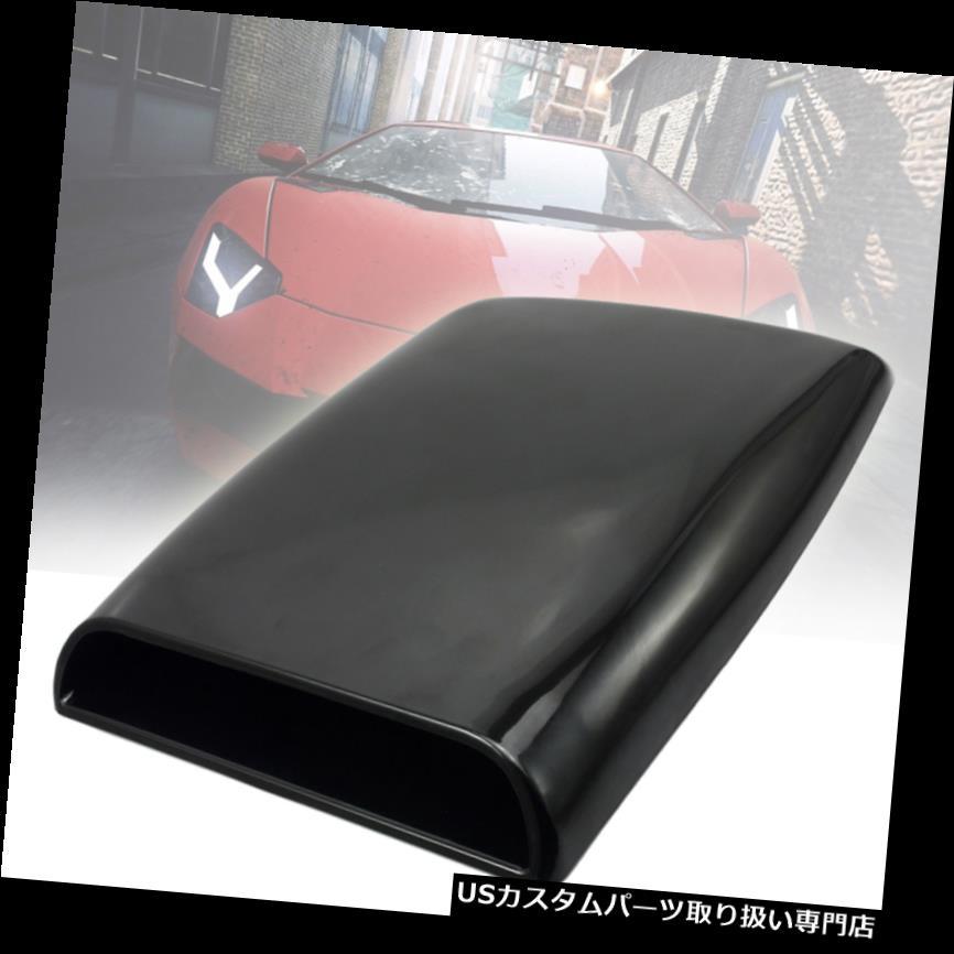 ボンネットフードベントスクープカバー 11インチユニバーサルカーフード装飾エアフローインテークスクープターボボンネットベントカバー 11in Universal Car Hood decorative Air Flow Intake Scoop Turbo Bonnet Vent Cover