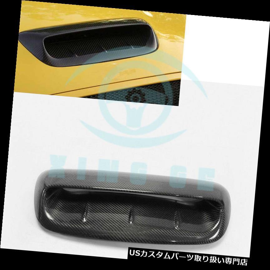 ボンネットフードベントスクープカバー ミニクーパーS R56 2007 - 14 WI用カーボンファイバーフードスクープボンネットベントダクトカバー Carbon Fiber Hood Scoop Bonnet Vent Duct Cover For Mini Cooper S R56 2007-14 WI