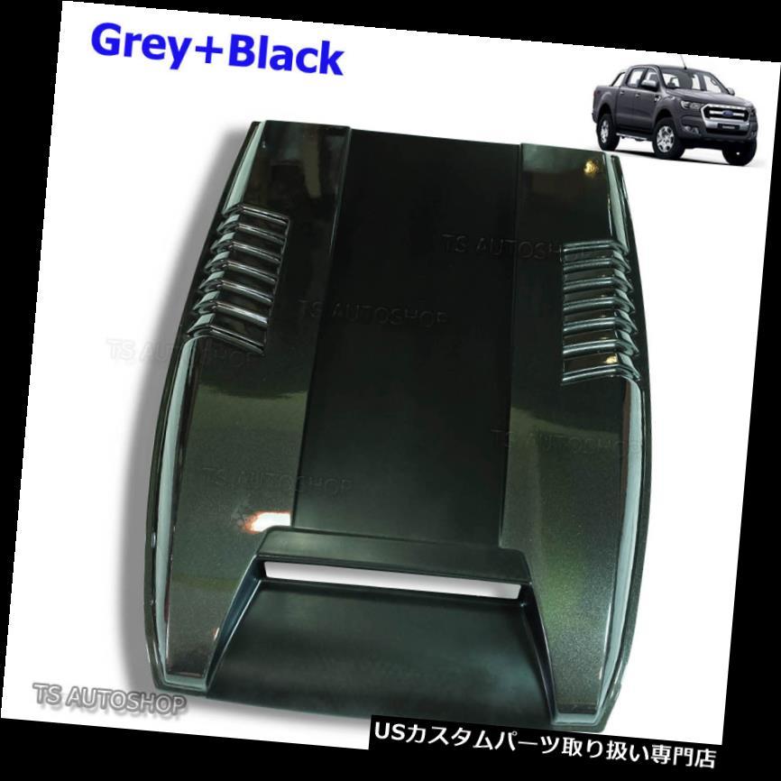 ボンネットフードベントスクープカバー Wildtrakブラックフードスクープベントボンネットカバー用フォードレンジャーPx2 Mk2 15 2016 2017 Wildtrak Black Hood Scoop Vent Bonnet Cover For Ford Ranger Px2 Mk2 15 2016 2017