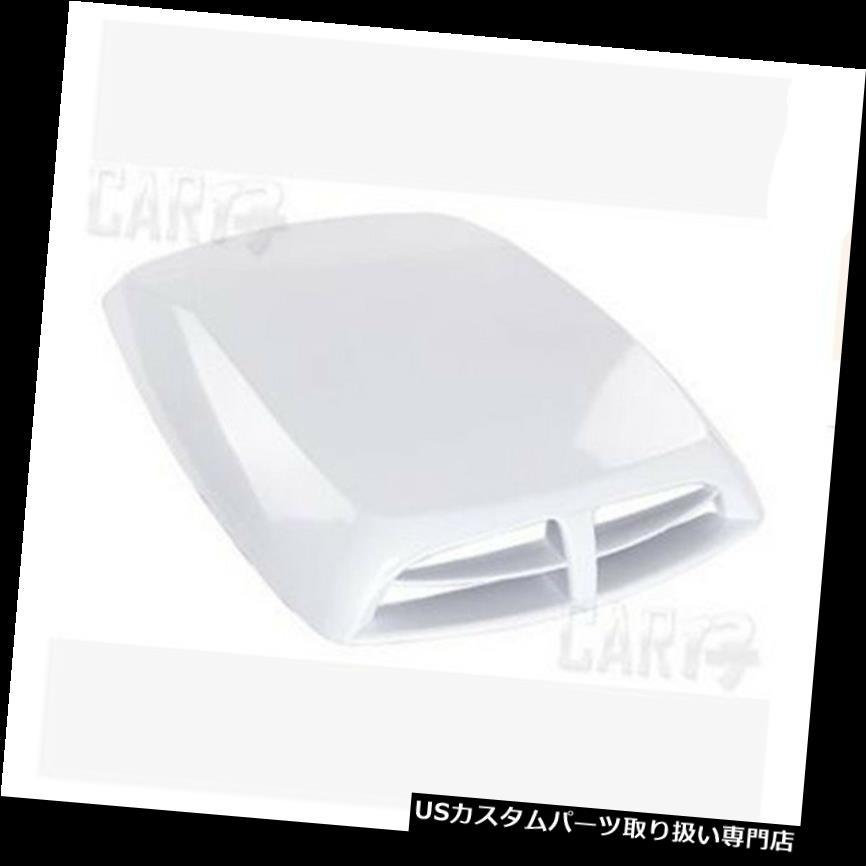 ボンネットフードベントスクープカバー 白い普遍的な車の装飾的な気流の取り入れ口のスクープの出口のボンネットカバー White Universal Car Decorative Air Flow Intake Hood Scoop Vent Bonnet Cover