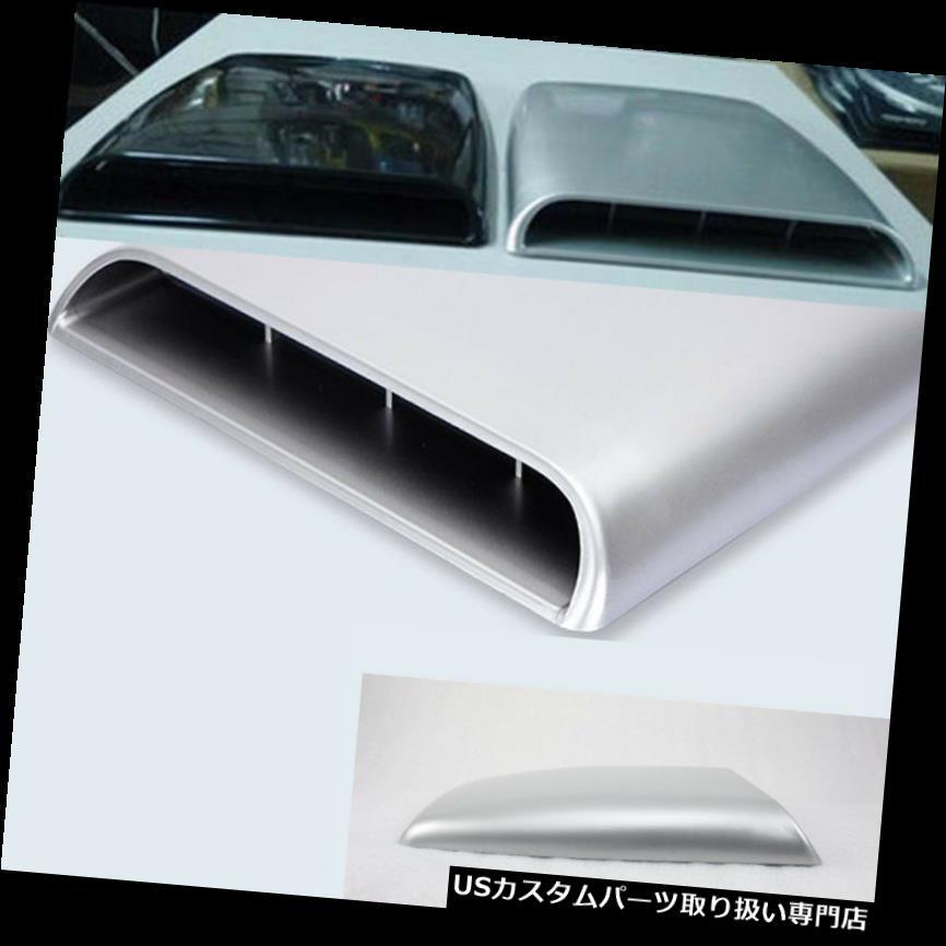 ボンネットフードベントスクープカバー グレーユニバーサルボンネットベントカバーフードカー装飾エアフローインテークスクープオート Gray Universal Bonnet Vent Cover Hood Car decorative Air Flow Intake Scoop Auto