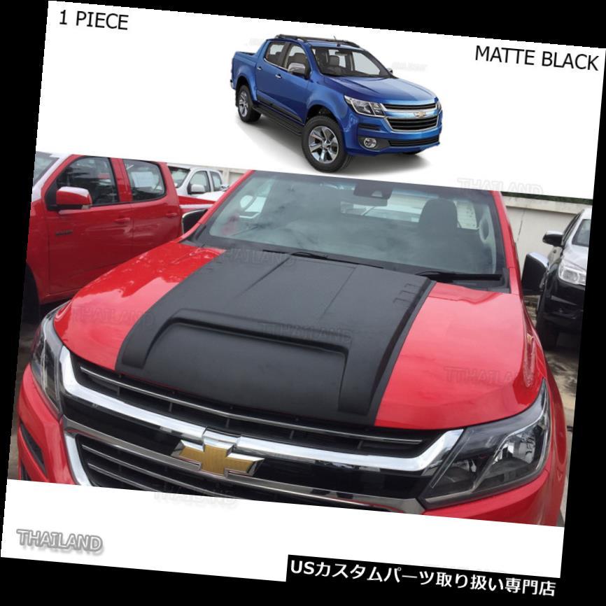 ボンネットフードベントスクープカバー シボレーホールデンコロラドZ71 2017マットブラックスクープボンネットベントフードフードカバーにフィット Fits Chevrolet Holden Colorado Z71 2017 Matte Black Scoop Bonnet Vent Hood Cover