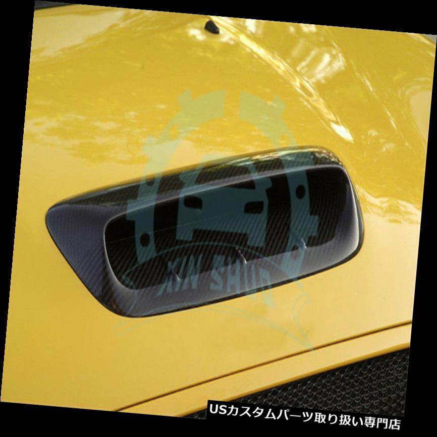ボンネットフードベントスクープカバー ミニクーパーS R56 2007-2014カーボンファイバーB用フードスクープボンネットベントダクトカバー Hood Scoop Bonnet Vent Duct Cover For Mini Cooper S R56 2007-2014 Carbon Fiber B