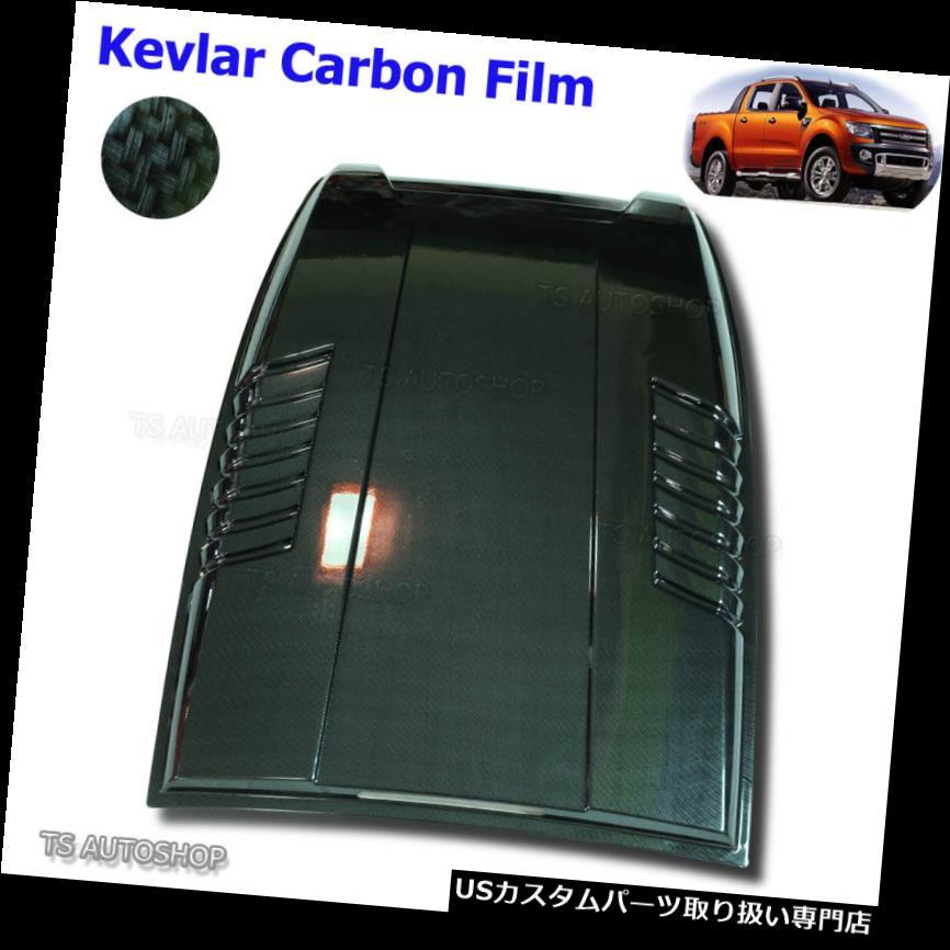ボンネットフードベントスクープカバー フォードレンジャーT6 Mk1 XLT 2012 - 2015年ブラックカーボンフードスクープベントボンネットカバー用 For Ford Ranger T6 Mk1 XLT 2012 - 2015 Black Carbon Hood Scoop Vent Bonnet Cover