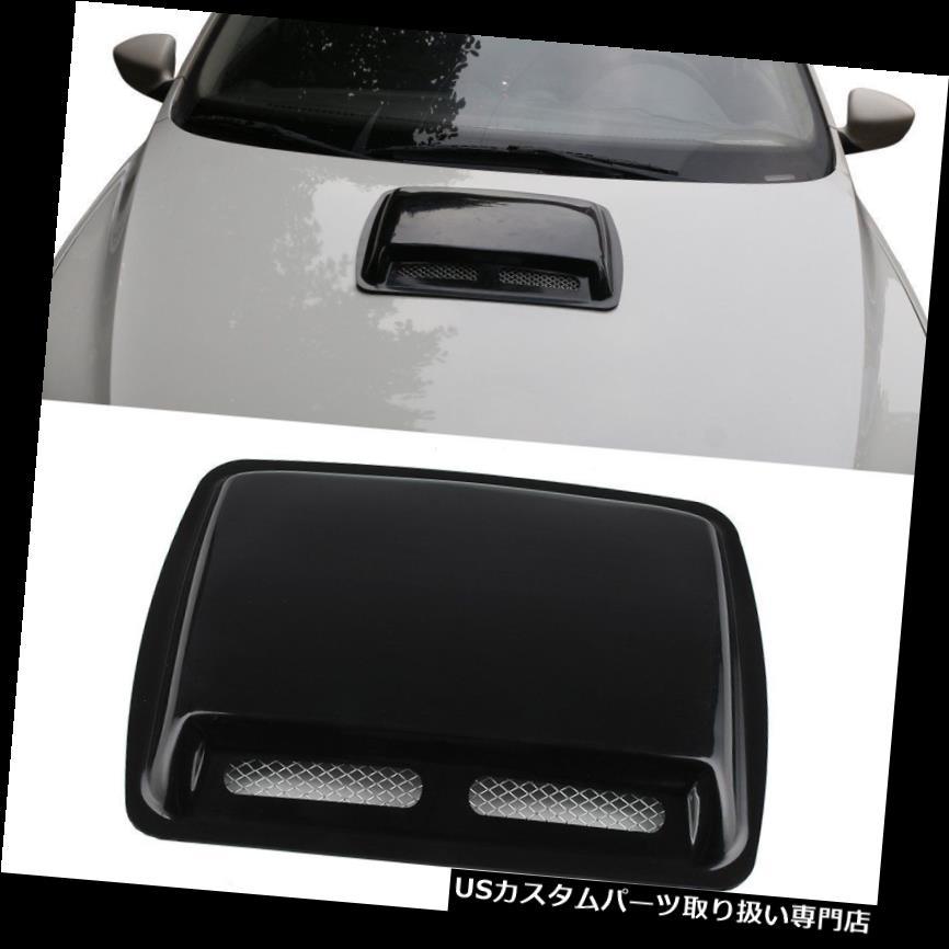 ボンネットフードベントスクープカバー ABS車SUVの装飾的な気流の取り入れ口のスクープターボボンネットの出口カバーフードの黒 ABS Car SUV Decorative Air Flow Intake Scoop Turbo Bonnet Vent Cover Hood Black
