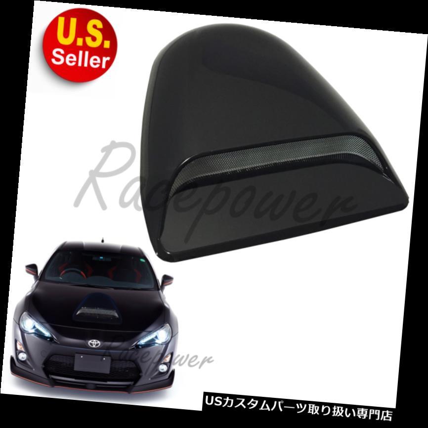 ボンネットフードベントスクープカバー JDMスタイルユニバーサルスポーツフードスクープスモークブラック#Ge7エアフローベントのフロントカバー JDM Style Universal Sport Hood Scoop Smoke Black #Ge7 Air Flow Vent Front Cover