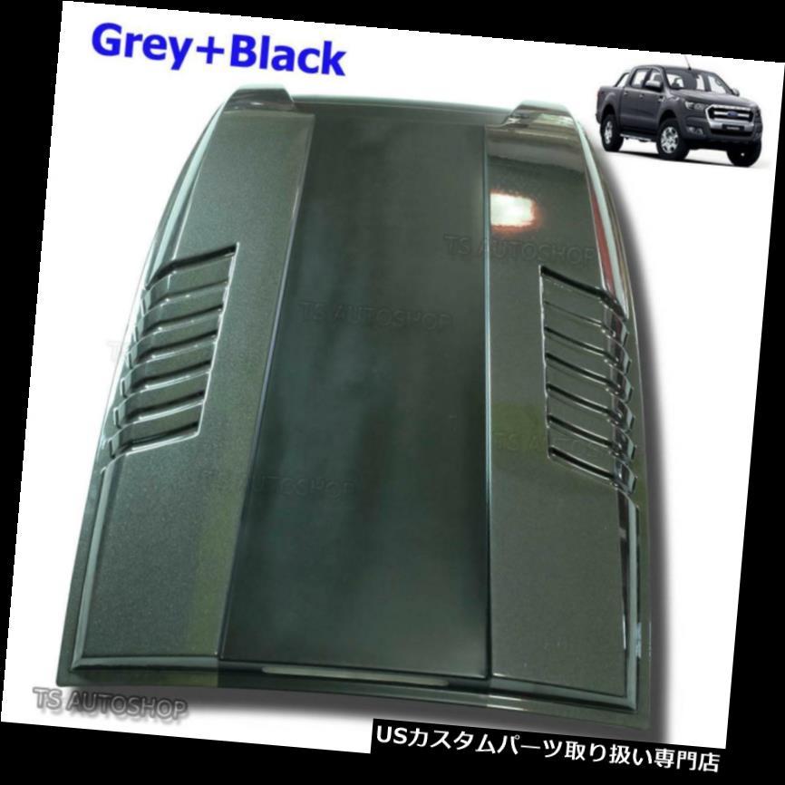 ボンネットフードベントスクープカバー グレーブラックフードスクープベントボンネットカバーフィットフォードレンジャーMc Mk 2 XLT 2015 16 18 Grey Black Hood Scoop Vent Bonnet Cover Fits Ford Ranger Mc Mk2 XLT 2015 16 18