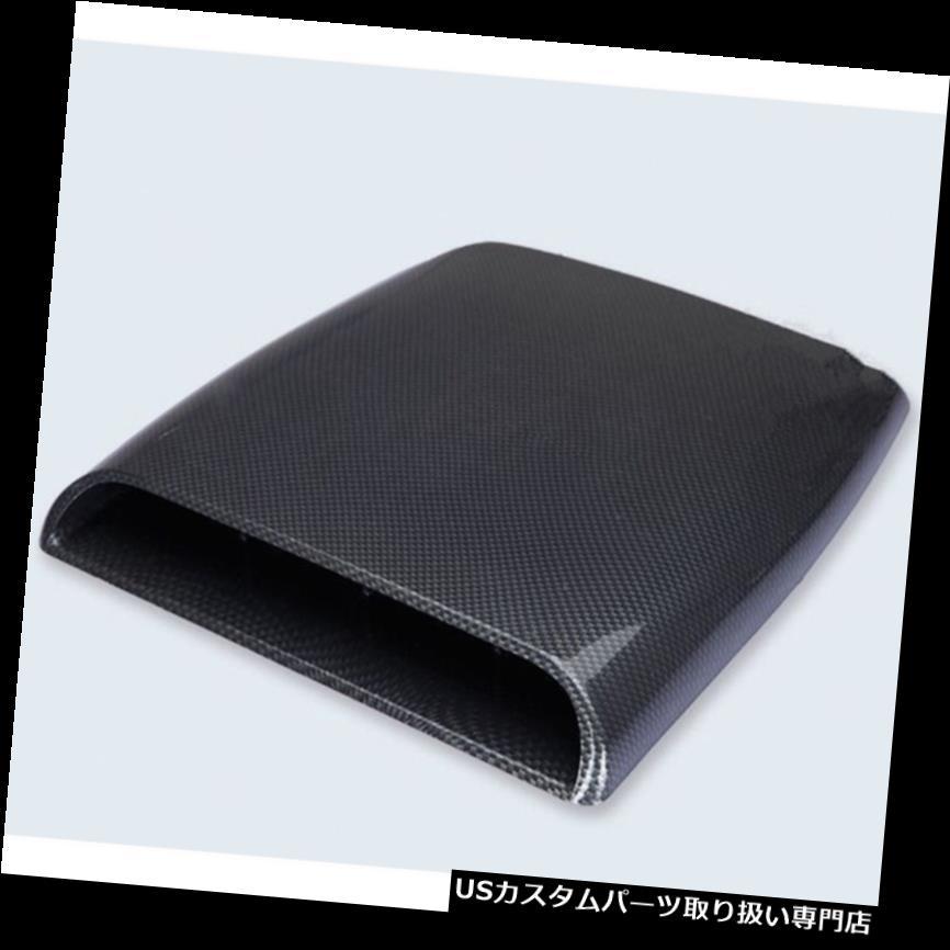 ボンネットフードベントスクープカバー カーボンファイバー3Dシミュレーションカーエアフローインテークフードスクープベントボンネットステッカー Carbon fiber 3D Simulation Car Air Flow Intake Hood Scoop Vent Bonnet Sticker
