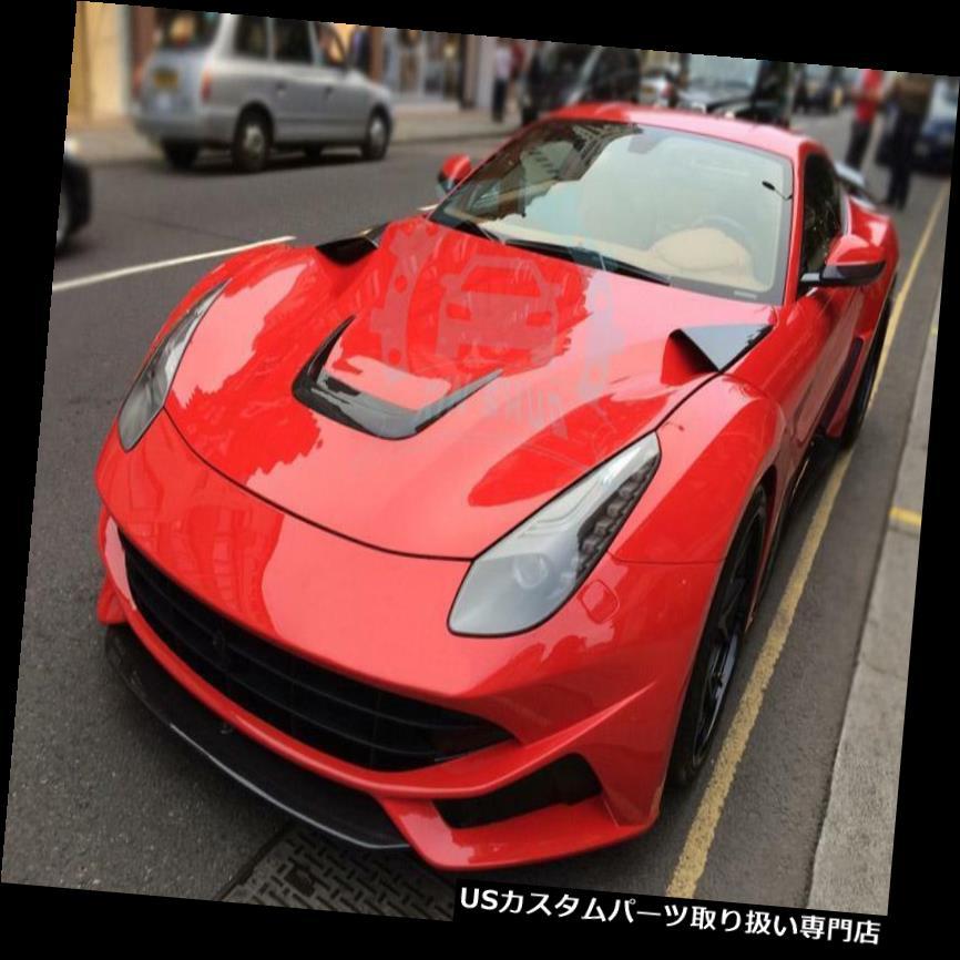 ボンネットフードベントスクープカバー 3 *カーボンエンジンカバーボンネットフードスクープベント用フェラーリF12 BERLINETTA 13-15 nn 3*Carbon Engine Cover Bonnet Hood Scoop Vent For Ferrari F12 BERLINETTA 13-15 nn