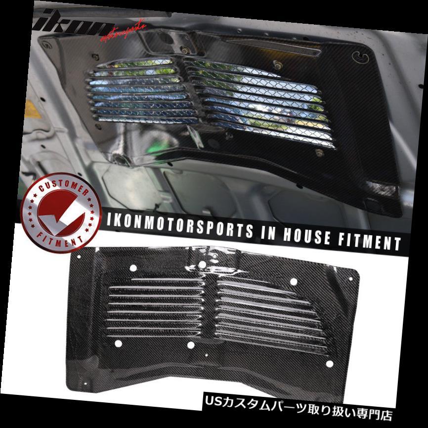 ボンネットフードベントスクープカバー 適合03-07三菱エボ8 9フードスクープフードベントルーバーカーボンファイバー Fits 03-07 Mitsubishi Evo 8 9 Hood Scoop Hood Vent Louver Carbon Fiber