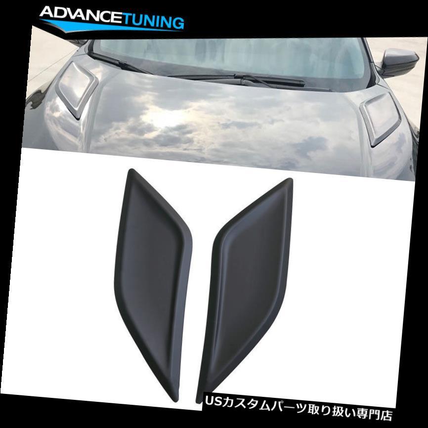 ボンネットフードベントスクープカバー 16-18 Honda Civic 10th Gen V1スタイルフードベント2個入りブラックABS Fits 16-18 Honda Civic 10th Gen V1 Style Hood Vents 2 Pieces Black ABS