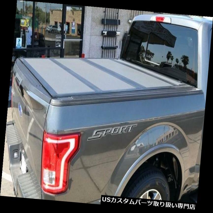 トノーカバー トノカバー APU 2015 - 2018年フォードF - 150 6.5フィートベッドブラックハード三つ折りトノーカバー APU 2015-2018 Ford F-150 6.5 ft Bed Black Hard Tri-Fold Tonneau Cover