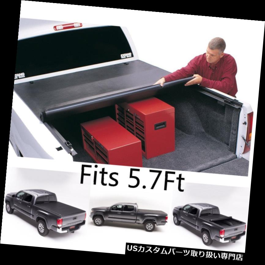 トノーカバー トノカバー 新しいソフト ロックロールアップトノーカバー2009-2017 Dodge Ram Crew Cab 5'7 Bed New Soft Lock Roll Up Tonneau Cover For 2009-2017 Dodge