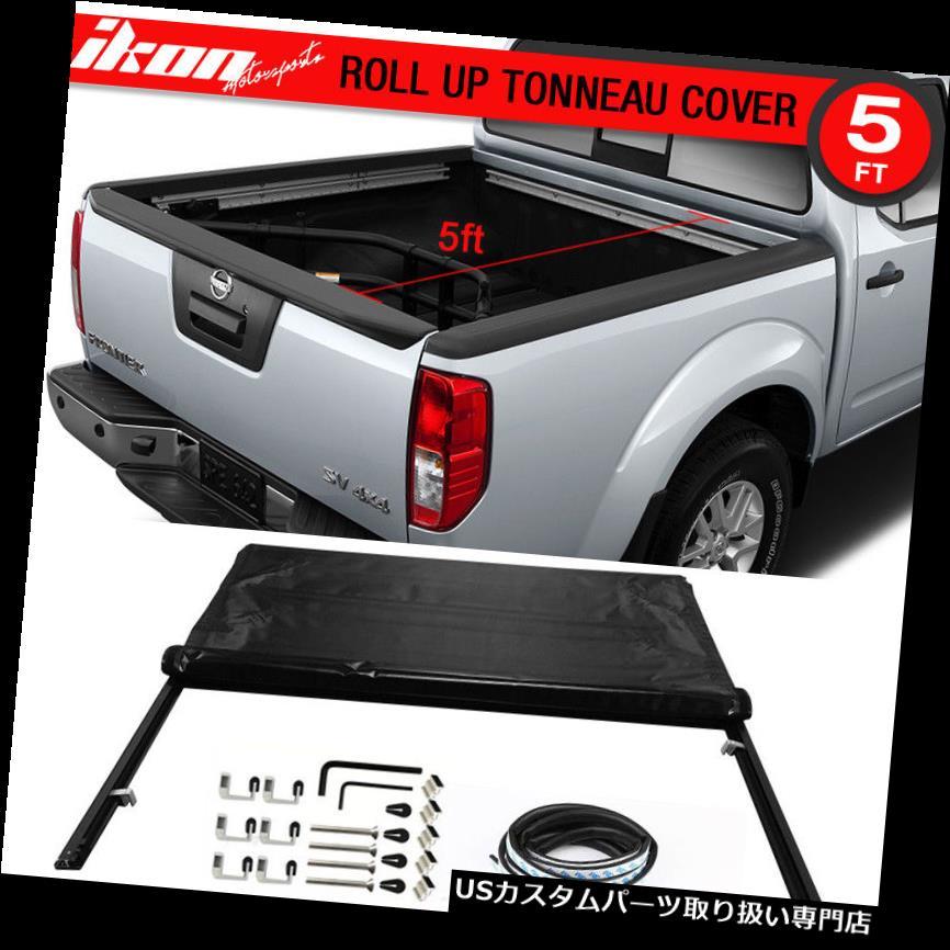 トノーカバー トノカバー フィット05-16日産フロンティア5フィート/ 60インチベッドロックソフトロールアップトノーカバー Fits 05-16 Nissan Frontier 5ft / 60in Bed Lock Soft Roll Up Tonneau Cover