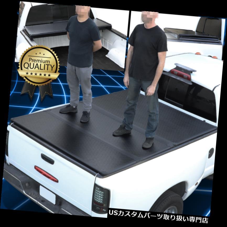 トノーカバー トノカバー 04-18用フォードF150 5.5Ftショートベッドハードソリッド三つ折りクランプオントノカバー For 04-18 Ford F150 5.5Ft Short Bed Hard Solid Tri-Fold Clamp-On Tonneau Cover