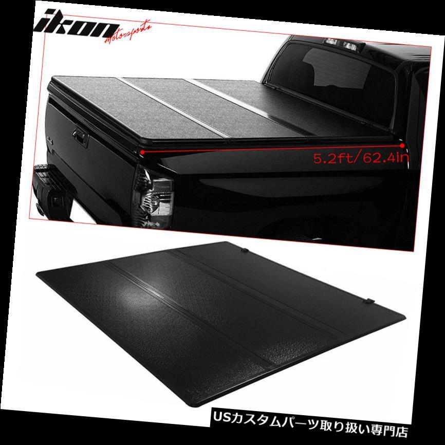 トノーカバー トノカバー 15-18シボレーコロラド5.2ft / 62.4inベッドブラック三つ折りハードTonneauカバーにフィット Fits 15-18 Chevy Colorado 5.2ft/62.4in Bed Black Tri-Fold Hard Tonneau Cover