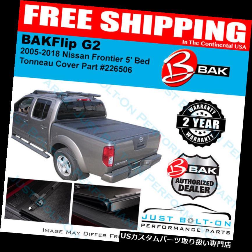 トノーカバー トノカバー BakFlip G2 Tonneau折りたたみカバーフィット2005-2018フロンティア5 'ショートベッドBAK 226506 BakFlip G2 Tonneau Folding Cover FITS 2005-2018 Frontier 5' Short Bed BAK 226506