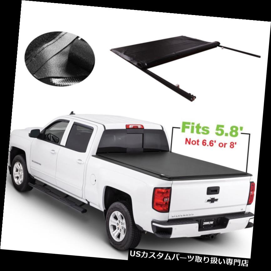 トノーカバー トノカバー 5.8 'ベッドはシボレーシルバラード2007-2013年GMCシエラJDMSPEEDのためのトノーカバーを転がします 5.8' Bed Roll Up Tonneau Cover For Chevy Silverado 2007-2013 GMC Sierra JDMSPEED