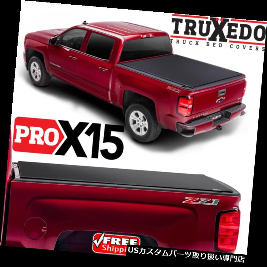 USトノーカバー/トノカバー TruXedo Pro X 15 Tonneauロールアップベッドカバー、シボレーシルバラードGMCシエラ8フィート TruXedo Pro X15 Tonneau Roll Up Bed Cover for Chevy Silverado GMC Sierra 8 Foot
