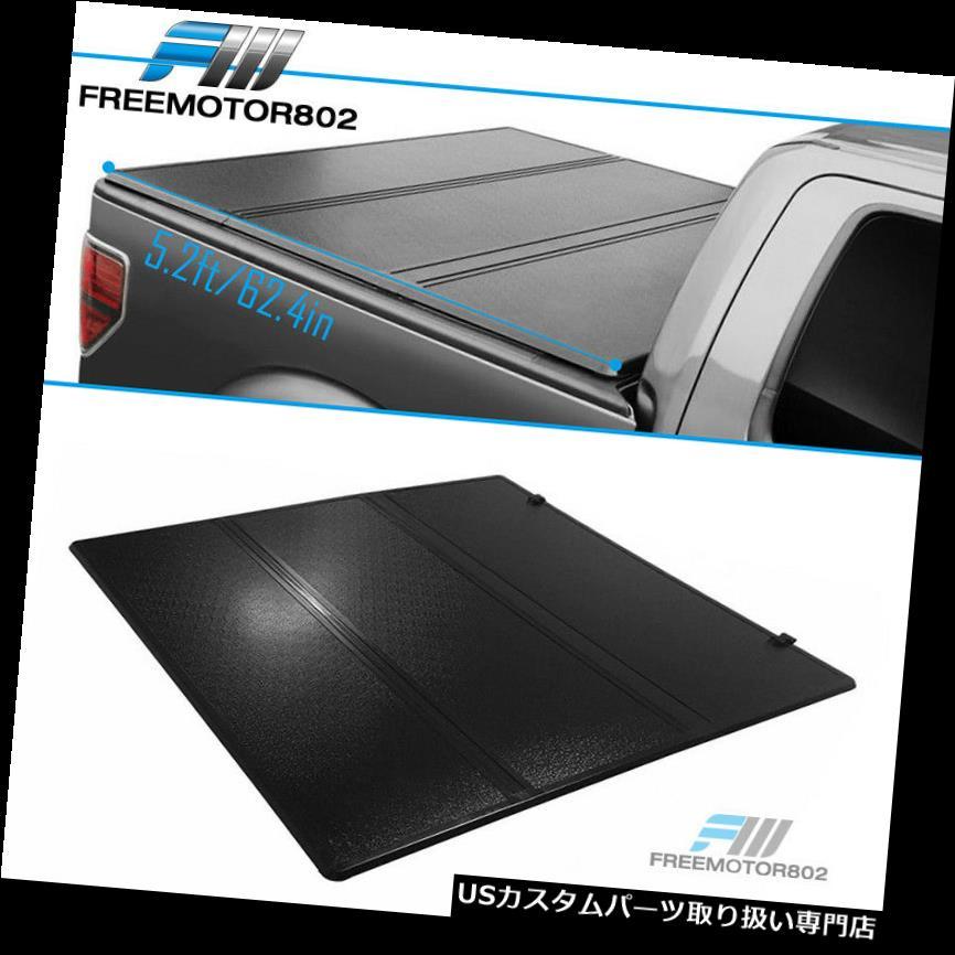 トノーカバー トノカバー 15-18シボレーコロラド5.2ftベッド三つ折りハードソリッドトンノーカーゴカバーにフィット Fits 15-18 Chevy Colorado 5.2ft Bed Tri-Fold Hard Solid Tonneau Cargo Cover